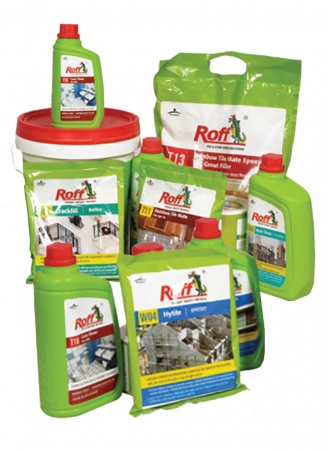 Roff Hyproof, Hydamp, Hytite, Crackfill, Super Create, Rbr, Rust Clear, Cera Clean