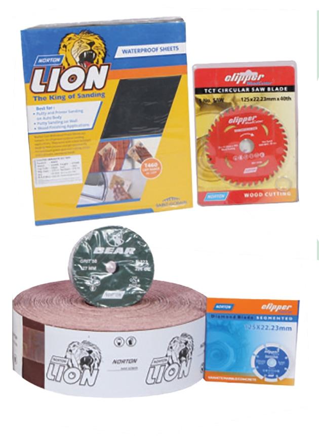 Norton Sand Roll, Disc, Wall Cutter, Wood Cutter, Water Emery, Sukka Paper