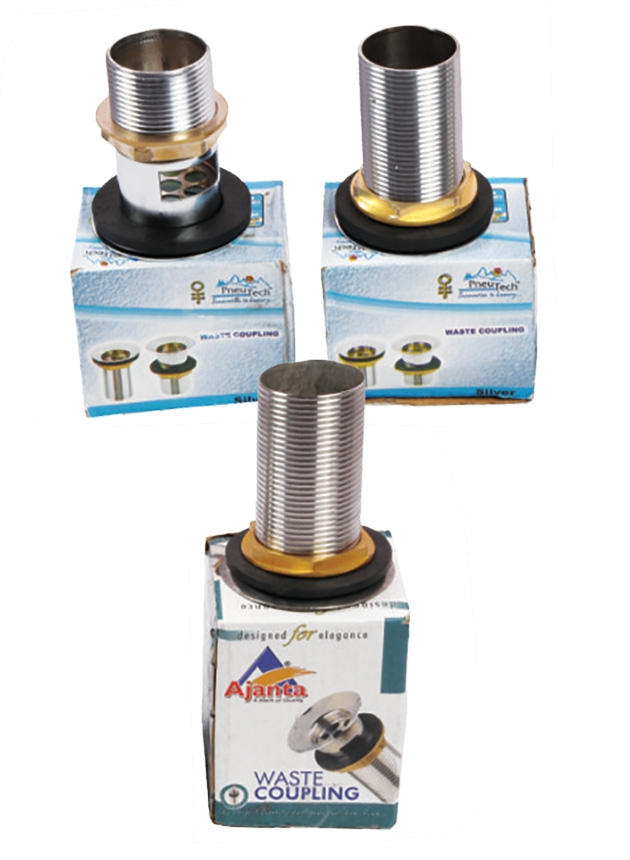 Waste Coupling Silver & Brass